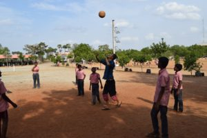 A perfect afternoon on the playground with AGN students. Every day from 4-7pm I go out to play games with the kids– volleyball, frisbee, dodgeball, and even Indian games they've taught me like Kho Kho and Cabaddi!